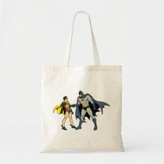 Robin And Batman Handshake Tote Bag