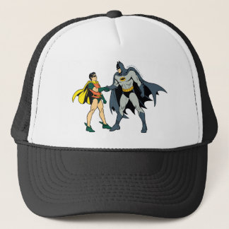 Robin And Batman Handshake Trucker Hat