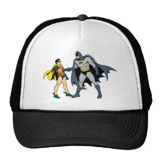 Robin And Batman Handshake Trucker Hat