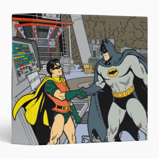 Robin And Batman Handshake Vinyl Binder