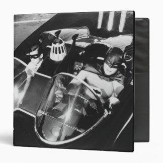 Robin and Batman in Batmobile 3 Ring Binder