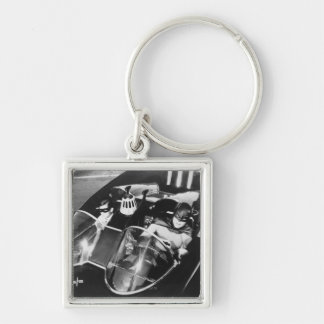 Robin and Batman in Batmobile Keychain