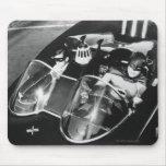 Robin and Batman in Batmobile Mouse Pad