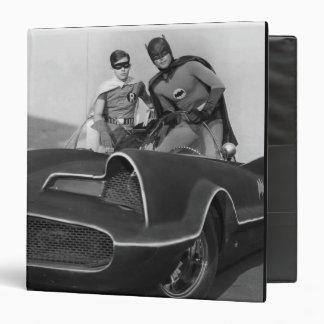 Robin and Batman Standing in Batmobile Vinyl Binder