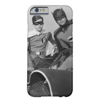 Robin and Batman Standing in Batmobile Barely There iPhone 6 Case