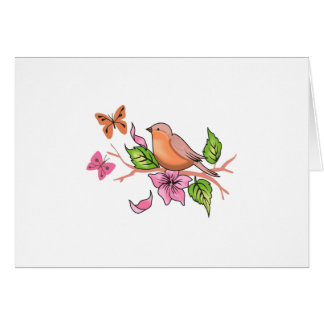 ROBIN AND BUTTERFLIES GREETING CARDS