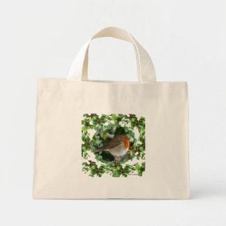 Robin and Holly Mini Tote Bag