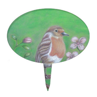 Robin Bird Cake Topper