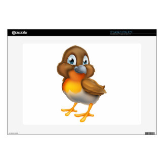 "Robin Bird Cartoon Character 15"" Laptop Skin"