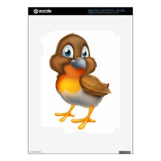 Robin Bird Cartoon Character iPad 3 Skins