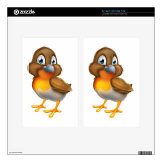 Robin Bird Cartoon Character Kindle Fire Skin
