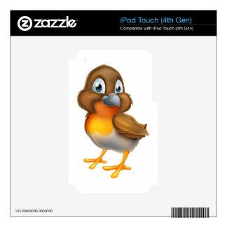 Robin Bird Cartoon Character Skin For iPod Touch 4G