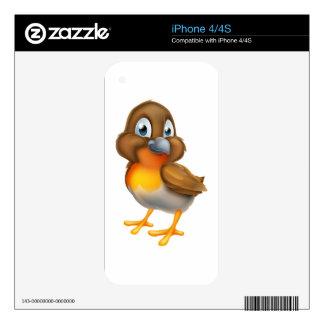 Robin Bird Cartoon Character Skins For The iPhone 4