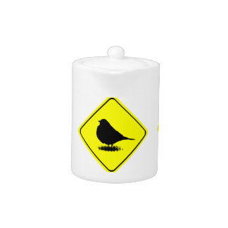 Robin Bird Silhouette Caution Crossing sign