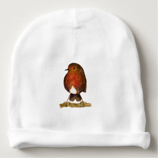 Robin Bird Watercolor Painting Artwork Baby Beanie