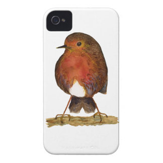 Robin Bird Watercolor Painting Artwork iPhone 4 Case-Mate Case