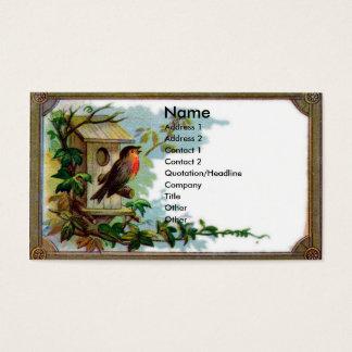 Robin & Birdhouse Victorian Scrapbook Card