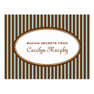Robin blue chocolate brown custom recipe card postcard