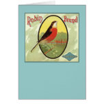 Robin Brand Fruit Crate Label Card