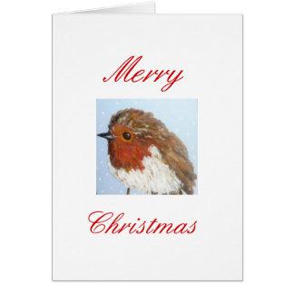 Robin Christmas Card