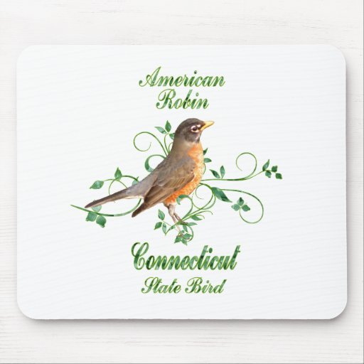 Robin Connecticut State Bird Mouse Pad