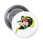 Robin Crouches Pinback Button