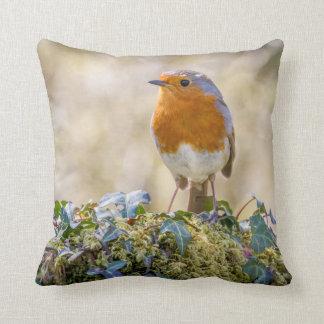 Robin cushion featuring two beautiful photographs