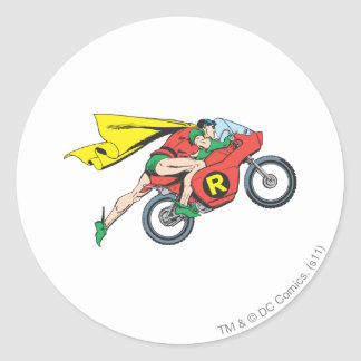 Robin & Cycle Classic Round Sticker