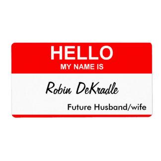 Robin DeKradle Custom Shipping Labels