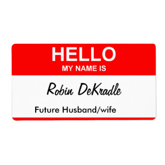 Robin DeKradle Shipping Labels