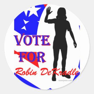 Robin DeKradle name pun Round Sticker