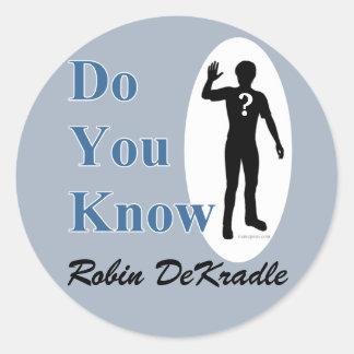 Robin DeKradle name pun Sticker