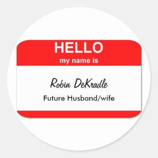 Robin DeKradle Round Sticker
