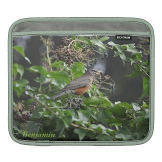 robin eating berries iPad sleeve