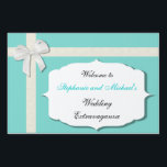"Robin Egg Blue and White Outdoor Wedding Sign<br><div class=""desc"">Customize all of the text you see here! 2013 by Mark Thaler</div>"