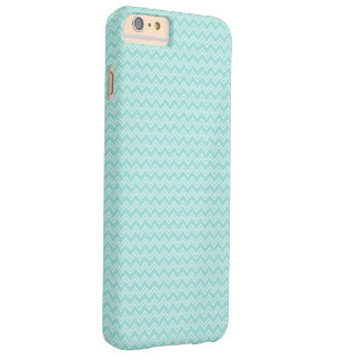 Robin Egg Blue and White Zig Zag Barely There iPhone 6 Plus Case