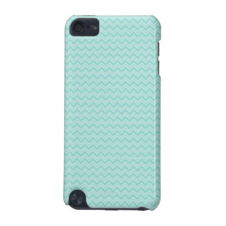 Robin Egg Blue and White Zig Zag iPod Touch 5G Cover
