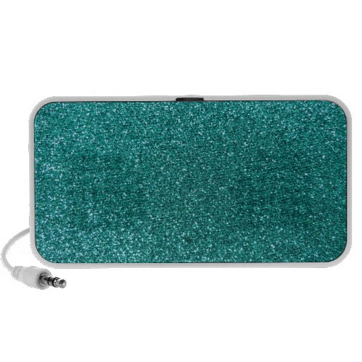 Robin egg blue glitter portable speakers