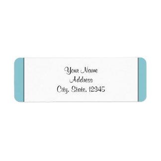 Robin Egg Blue Initials Posh Wedding Label Return Address Label