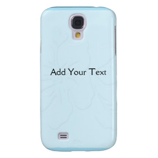Robin Egg Blue Tone on Tone Hibiscus Samsung Galaxy S4 Case