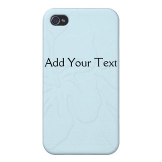 Robin Egg Blue Tone on Tone Hibiscus iPhone 4/4S Case