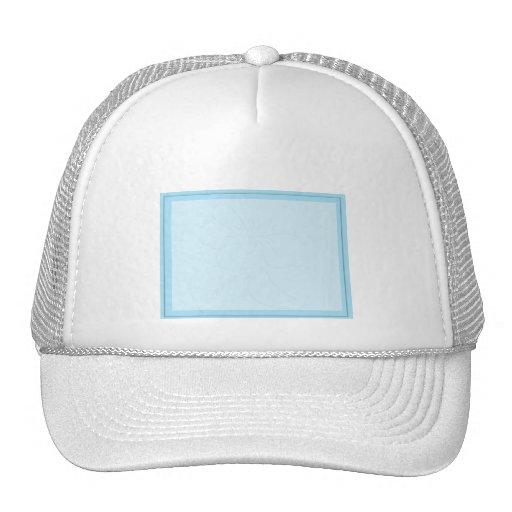 Robin Egg Blue Tone on Tone Hibiscus Trucker Hat