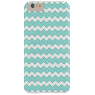 Robin Egg Blue Zig Zag Stripe Pattern Barely There iPhone 6 Plus Case