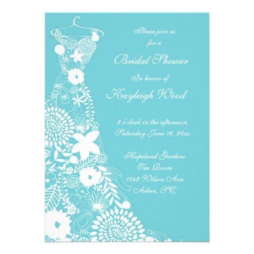 Robin egg custom bridal shower invite