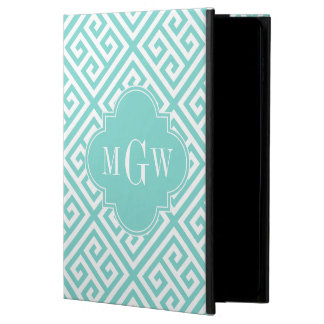 Robin Egg Wt Md Greek Key DiagT Aqua Name Monogram Powis iPad Air 2 Case