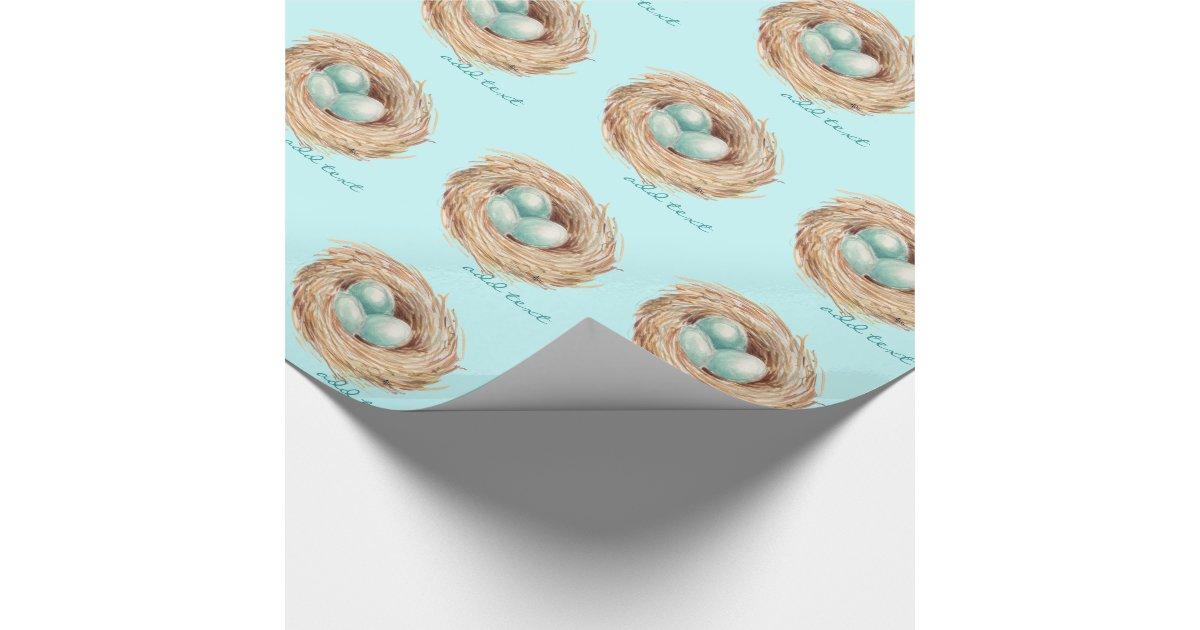 Robin eggs bird nest personalized gift wrap zazzle