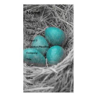 Robin Eggs Grunge Business Card Template