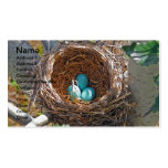 Robin Eggs in a Backyard Tree Nest Business Card Template