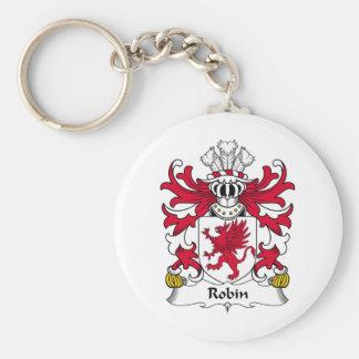 Robin Family Crest Keychain