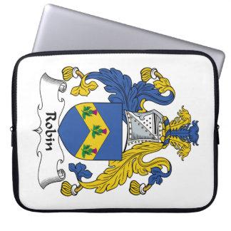 Robin Family Crest Computer Sleeve